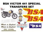 BSA B44 Victor Special Transfer Decal Set
